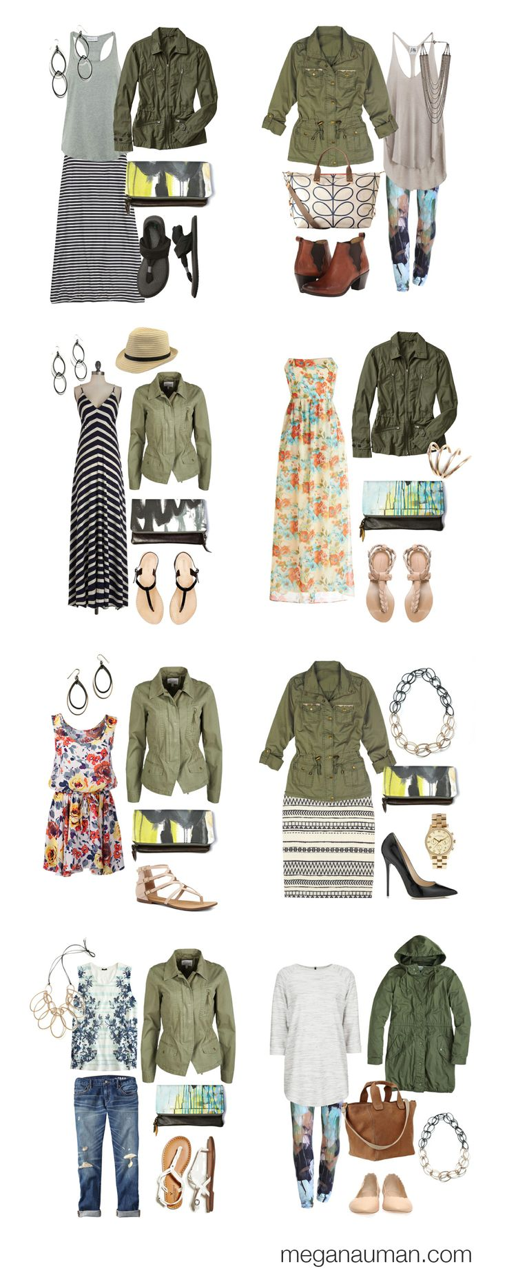how to style a military jacket // 8 ways to wear a military jacket // via megan auman