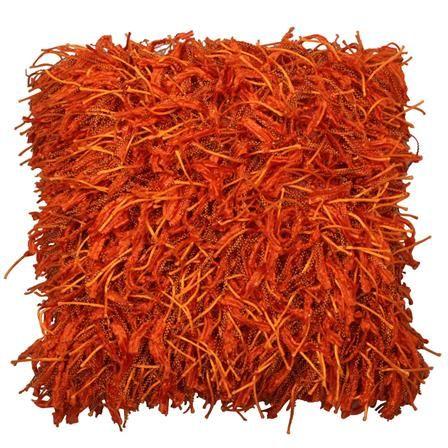 Orange Shaggy Cushion | ACHICA