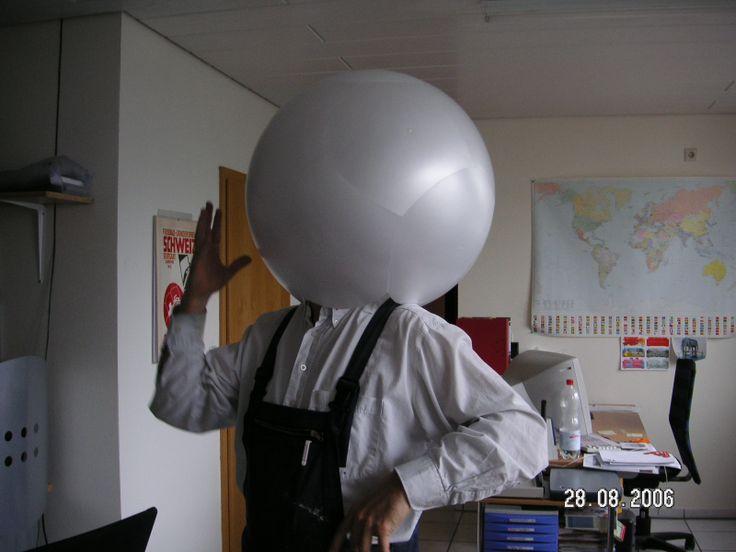 Original design! Our head technician fooling around.