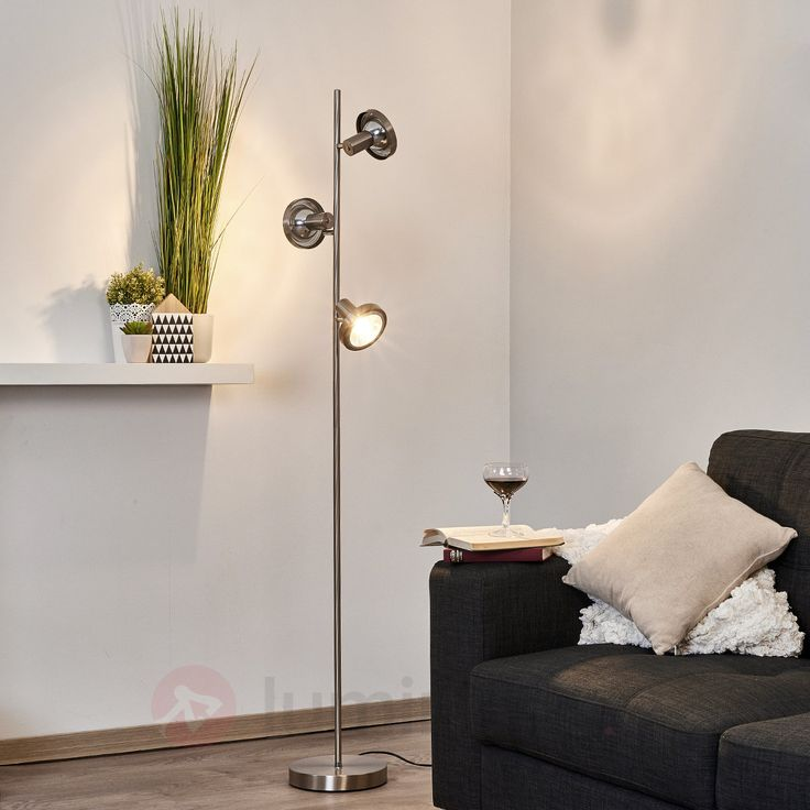 Lampadaire LED G9 Kyan à trois lampes, référence 9620207 - Lampadaires à moins de 150€ pour décorer sans se ruiner chez Luminaire.fr !