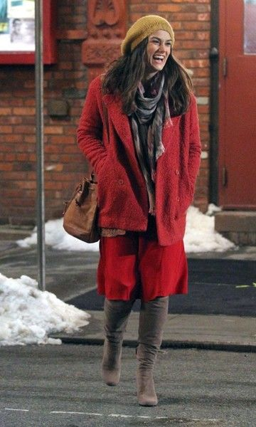 Keira Knightley Photos Photos - Actress Keira Knightley and actor Edward Norton film scenes for their new movie 'Collateral Beauty' on March 3, 2016 in New York City. - Keira Knightley and Edward Norton Film 'Collateral Beauty'