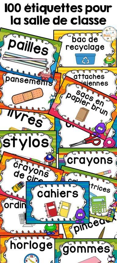 100 étiquettes pour vous aider à organiser votre matériel dans votre salle de classe à la rentrée! 2 formats offerts! Thème de ces étiquettes pour la classe: petits monstres !