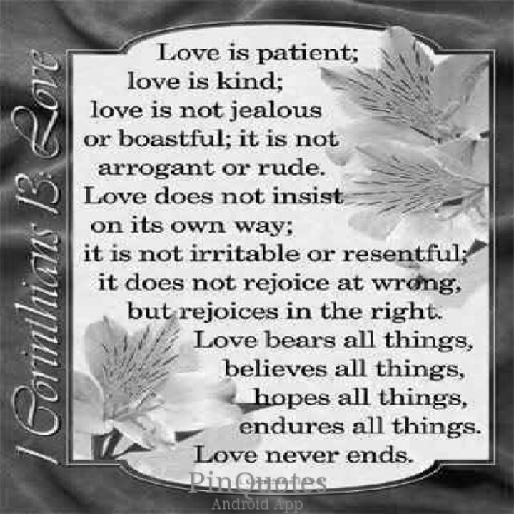 Corinthinas 13:4-8 love never fails