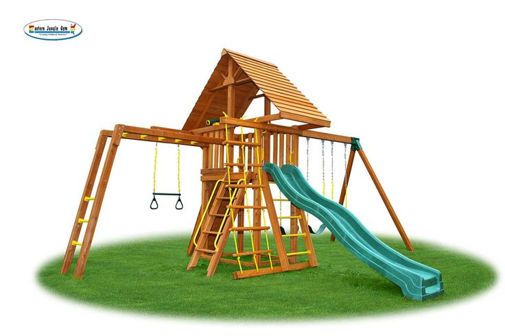 Dreamscape 7 cedar playground comes with 3 belt swings
