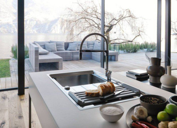 make your kitchen the most wonderful place with FRANKE Kitchen Sinks.  #franke #frankesink #frankekitchensink