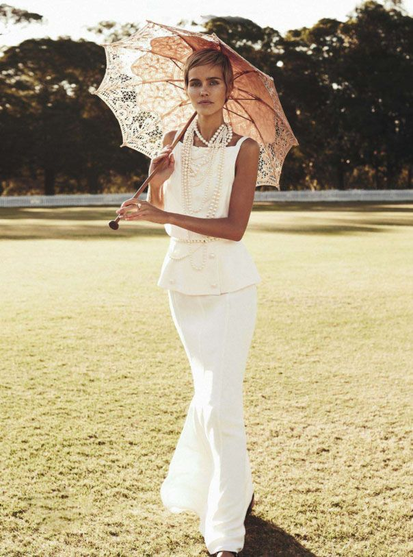 Isabel Lucas makes old new again in Australia's December Vogue