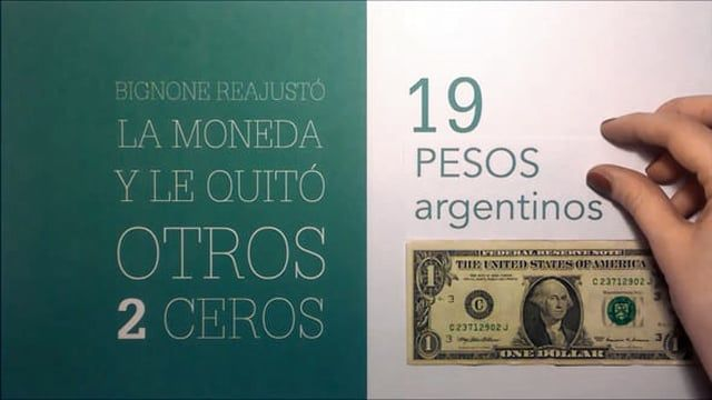 La historia del peso argentino en un corto de tipografía animada. Tipografía Nivel 2, FADU UBA.