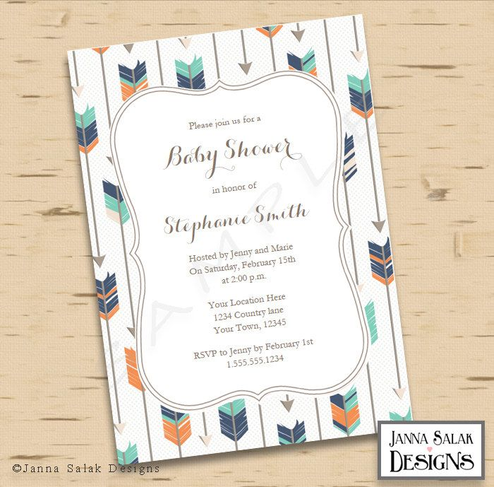 49 best images about tribal baby shower on pinterest | arrow baby, Baby shower invitations