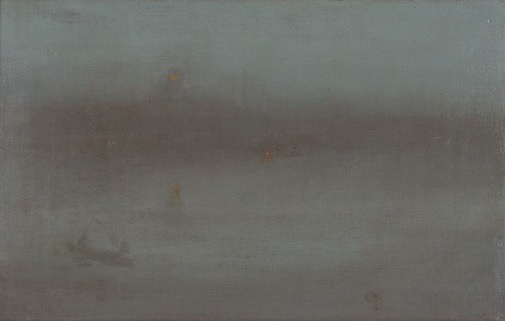 Nocturne, Blue and Silver: Battersea Reach, about 1872-78, James McNeill Whistler, American, 1834-1903, Oil on canvas, 39.4 x 62.9 cm