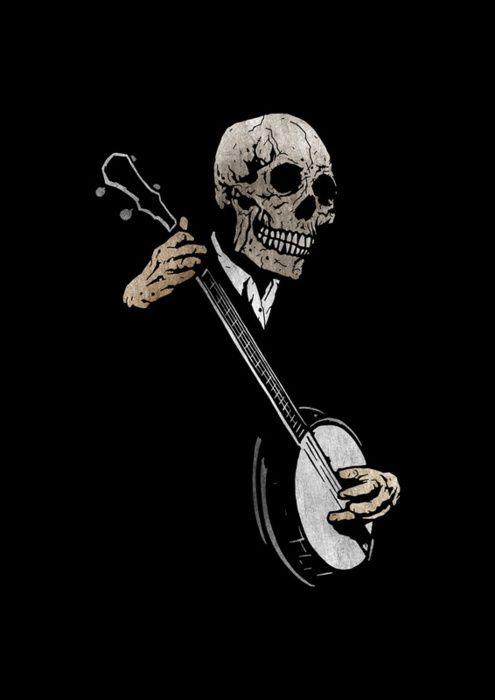 Death plays the banjo.