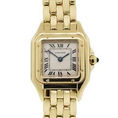 Cartier Ladies Yellow Gold Champagne Dial Panther Quartz Wristwatch
