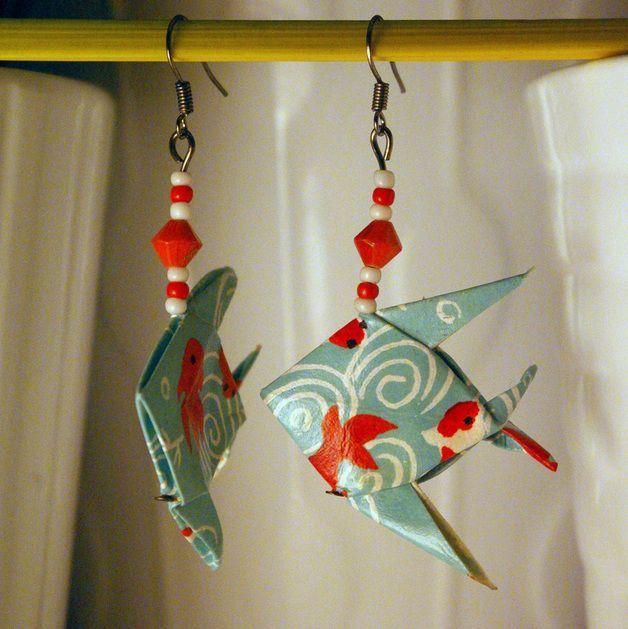 boucles d oreilles origami tutoriel - Recherche Google