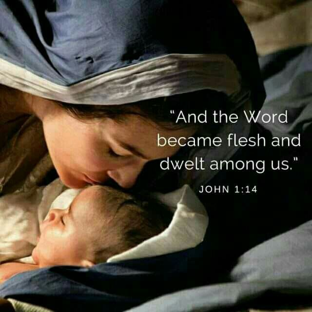 And the Word was made flesh, and dwelt among us, (and we beheld his glory, the glory as of the only begotten of the Father,) full of grace and truth. John 1:14