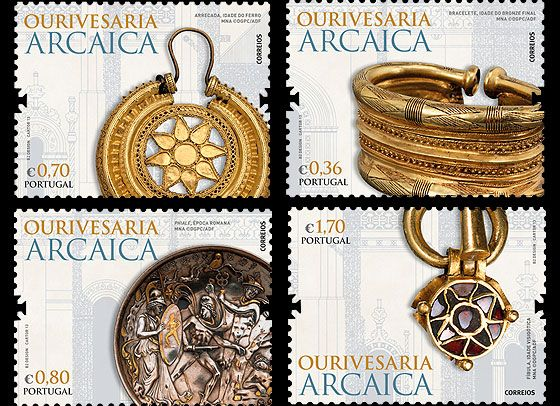 This stamp edition was issued by Portugal Post this year, Archaic Jewellery. If your interested in this stamp edition or other stamps from Portugal, check out our website www.wopa-stamps.com