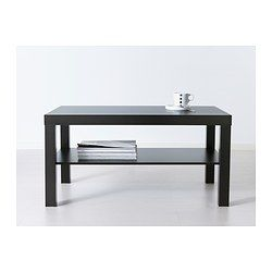 """LACK Coffee table - black-brown, 35 3/8x21 5/8 """" - IKEA Paint it in a funky color and add gold trimt o the legs"""