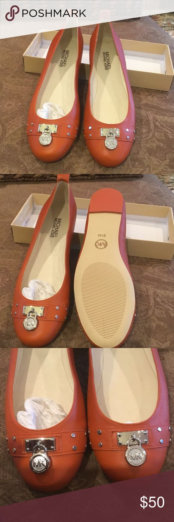Michael Kors Hamilton Studs NWT New Never Worn Michael Kors Hamilton Stud Flats KORS Michael Kors Shoes Flats & Loafers