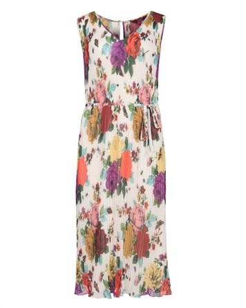 Pleated midi floral dress. Ted Baker