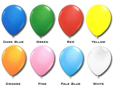 "Qualatex 16"" Standard Colours (50/pkg) 8 colour options"