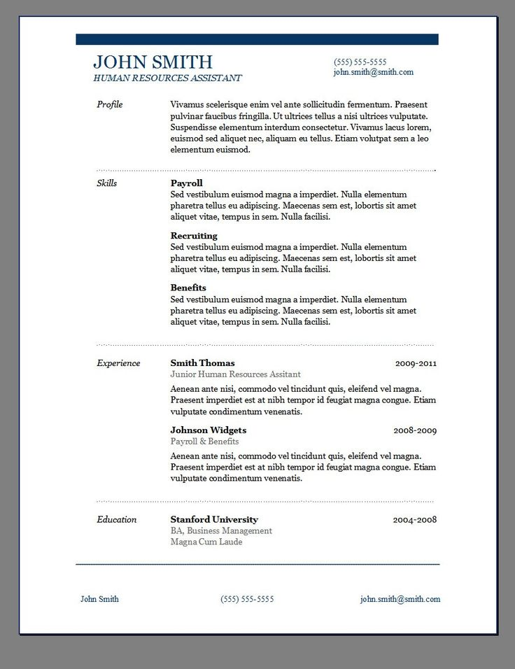 Resume Samples Free Download Word  EnderRealtyparkCo