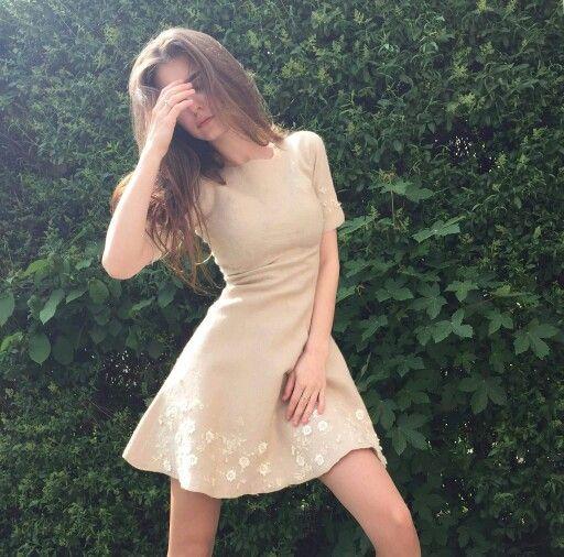 Платье,ручной работы ,меринос 18 мк