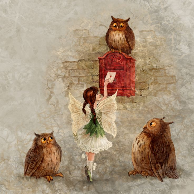 Fairy and Owls by ArtGalla on DeviantArt