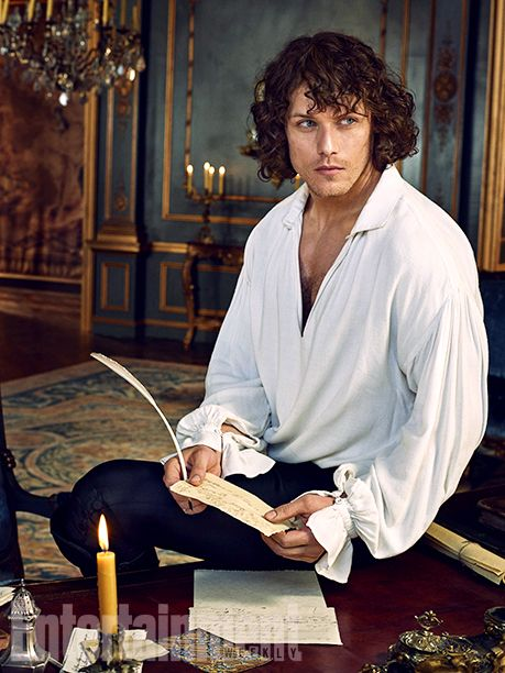 'Gorgeous Season Two 'Outlander' - 11 EW Exclusive Photos - EW.com with Caitriona Balfe (Claire Fraser) and Sam Heughan (Jamie Fraser)