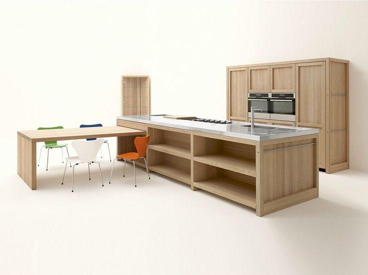 Cucina in rovere con isola LEGNO VIVO by GeD cucine by GeD Arredamenti | design Roberto Pezzetta