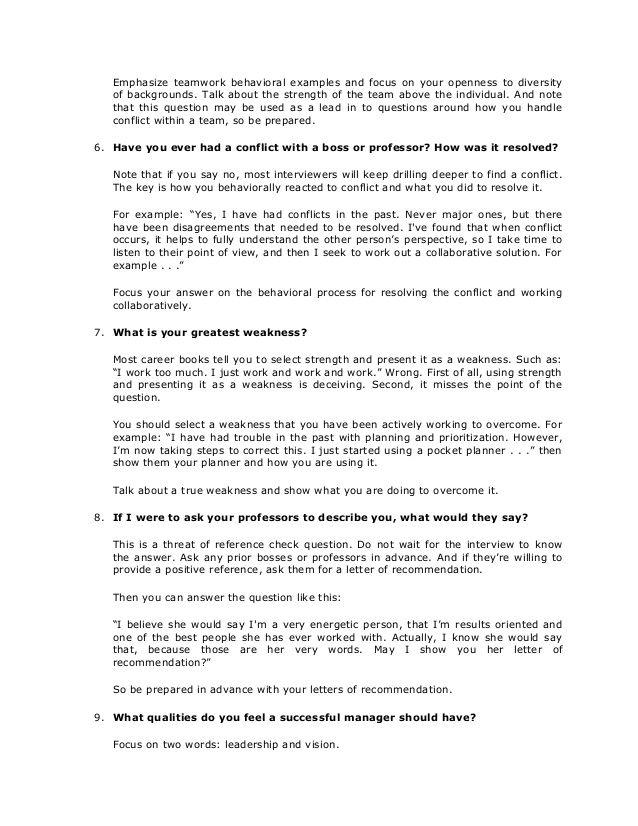 Slideshare Ten Tough Interview Questions Ten Great Answers 061d1c8e Resumesample Resumefor Job Interview Answers Job Interview Questions Job Interview Tips