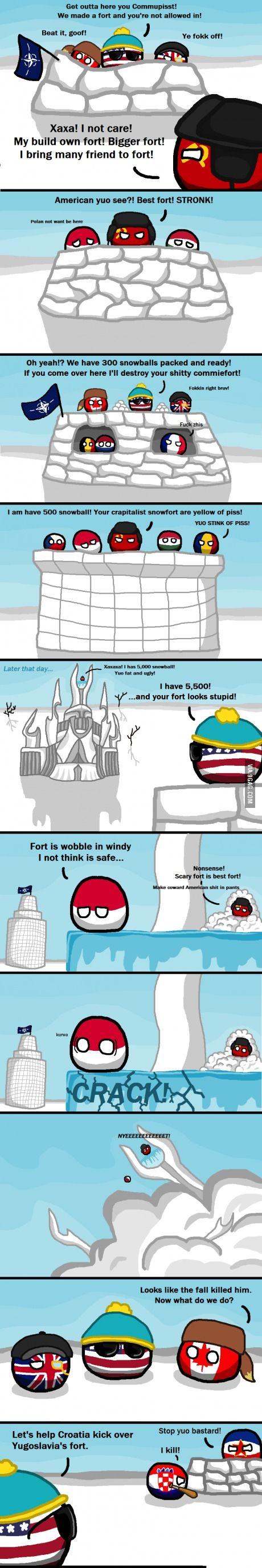 A Very Cold War. Sad but true !