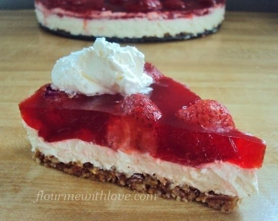 "Sugar-Free Strawberry ""Pretzel"" Dessert...somewhat lower carb too! #FlourMeWithLove #sugarfree #strawberry #dessert"