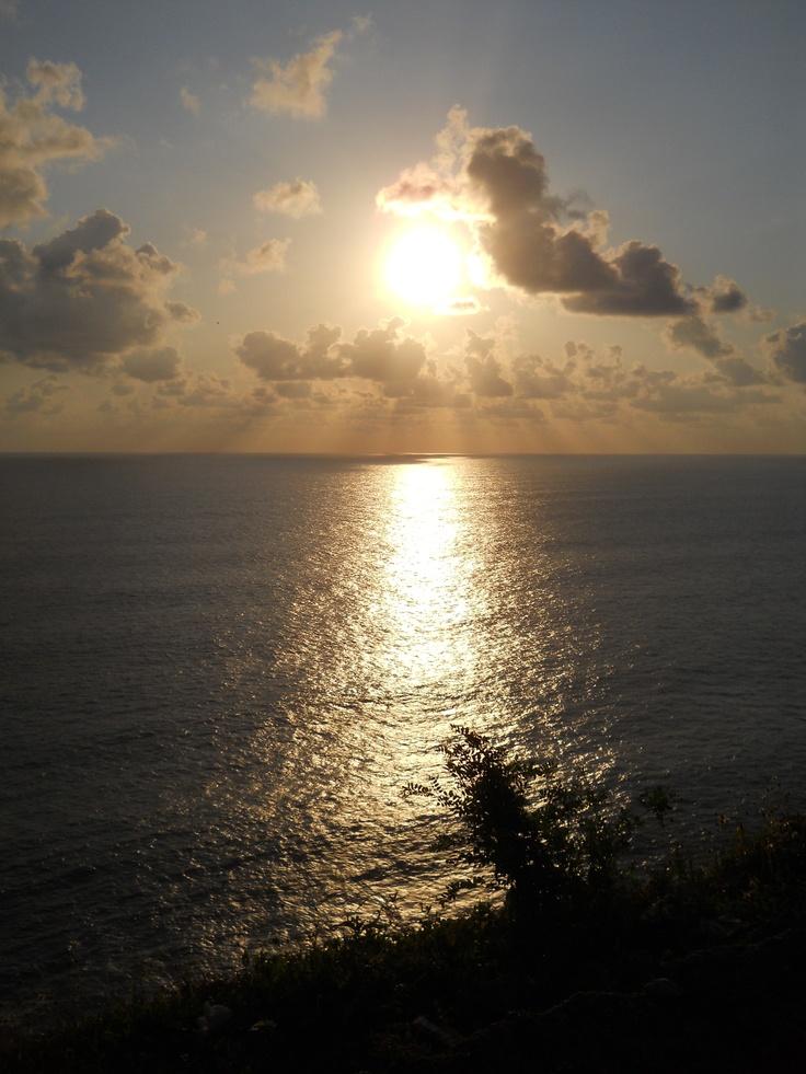 Beautiful sunset from Jimbaran Hill, Bali.