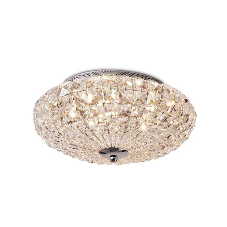 daheim.de, Deckenlampe Virgin A++ Silber Kristall, Kristalloptik