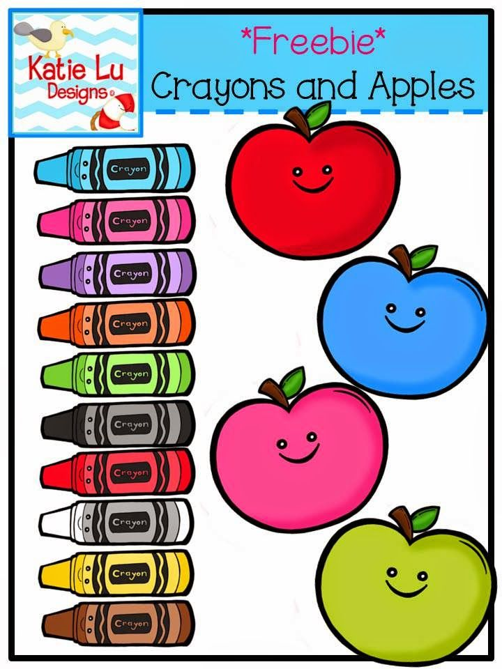 Crayons and Apples Freebie on Teachers Pay Teachers