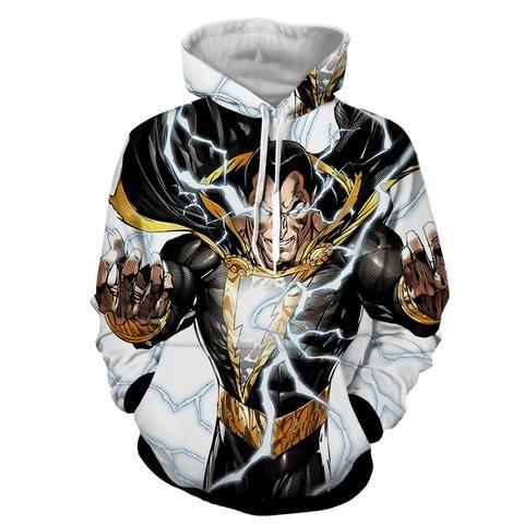 2e293e1e DC Comics Epic Godly Captain Marvel Shazam White Hoodie #dccomics #hoodies # heroes