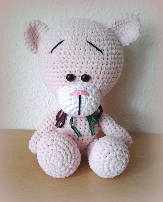 Crochet Teddy Bear Gina Powder by CrochetlandRV on Etsy