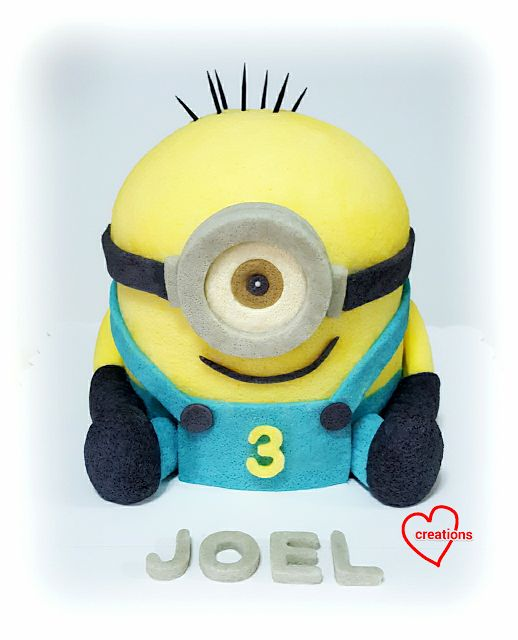 Loving Creations for You: 3D Minions Chiffon Cake