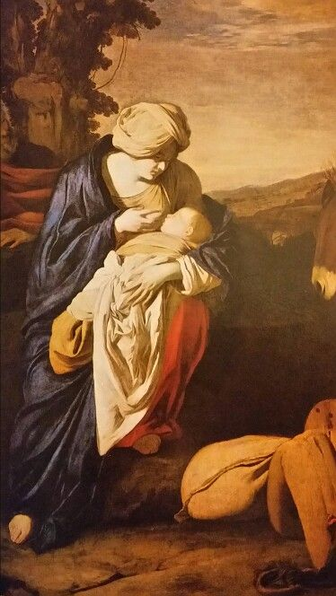 ANIELLO FALCONE ( Naples 1607 - 1656 ). THE REST OF THE FLIGHT INTO EGYPT. 1641…