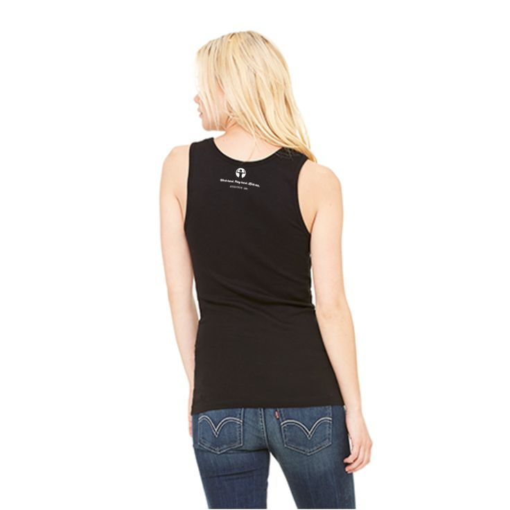 [Back] Women's Baby Rib Tank: I play roller derby because punching people is frowned upon. Regular price $20.00 CAD. Designed by Annie Asskicker at Asskicker Ink. Tank tops for derby girls.