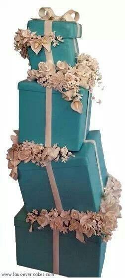 Tiffany boxes cake