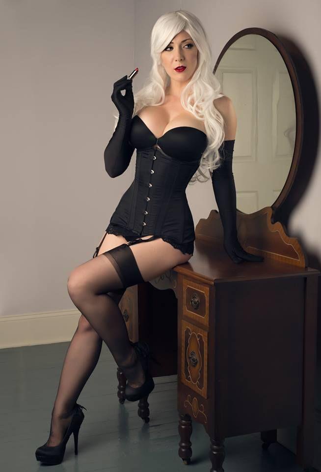 Kristen Hughey Black Cat Boudoir Version Cosplay Black Cat