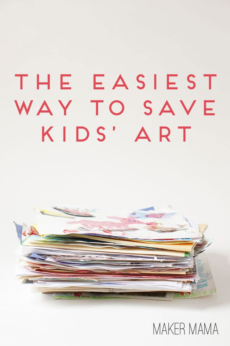 Maker Mama Craft Blog: The Easiest Way to Save Kids' Art by @makermama