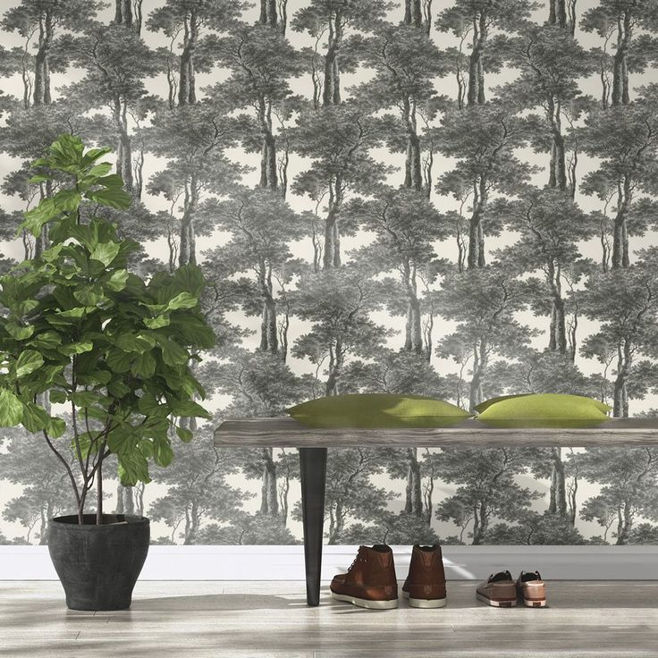 Passepartout Trees Wallpaper Black and White Rasch 605419  Rasch Passepartout Trees Wallpaper is a classic design which has been taken from the Rasch archives and given a contemporary makeover. The high quality wallpaper has a beautiful tree silhouette design and comes in shades of black and white with a slightly textured finish. As a paste the wall paper, it is incredibly easy to apply and work with. This wallpaper could be used to create a feature wall or to decorate a entire room in most…