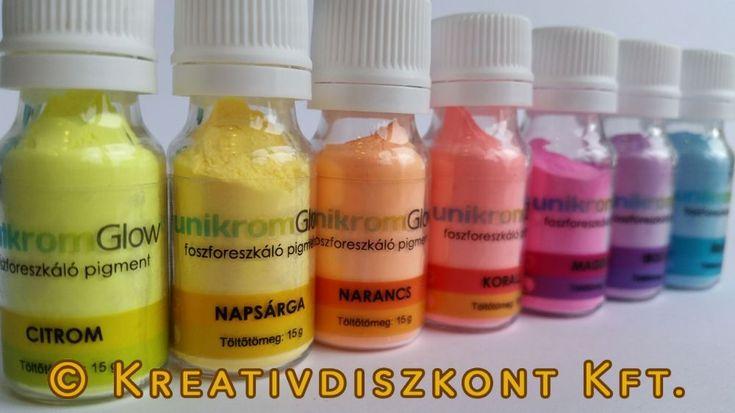 Foszforeszkáló pigmentpor 10 színben 15 gr neonzöld