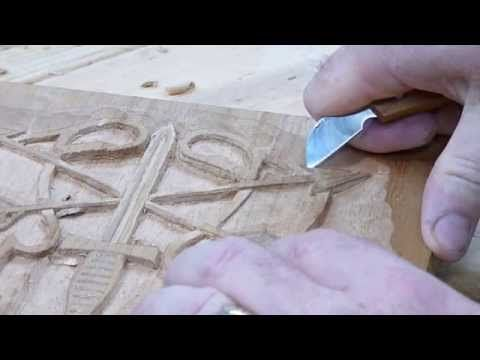 U.S. Army Special Forces Emblem wood carving - YouTube