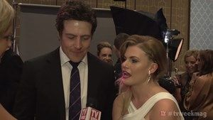 The cast of Home & Away celebrate their Logie win