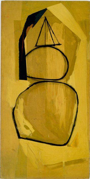 Robert Motherwell  American (Aberdeen, Washington, 1915 - 1991, Provincetown, Massachusetts)  Untitled (Figuration)  1948  painting | oil and sand on Masonite