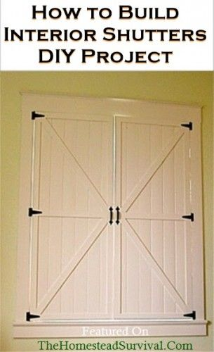 How to Build Interior Shutters DIY Project | The Homestead Survival