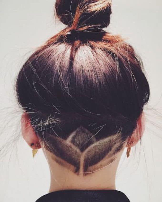 Undercut chignon Hair Stuff Tatouage cheveux, Coupe de