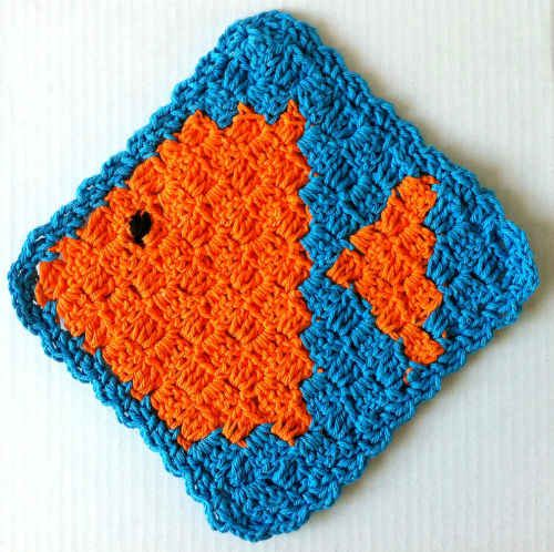 Best Free Crochet #123 Fish Crochet Dishcloth ? Maggie ...
