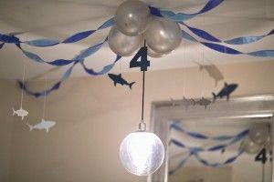 Kara's Party Ideas JAWsome Shark Themed Birthday Party via Kara's Party Ideas KarasPartyIdeas Party supplies, cake, decor, printables, cupcakes, and more! #sharkparty #sharkcake #partyplanning (12) | Kara's Party Ideas